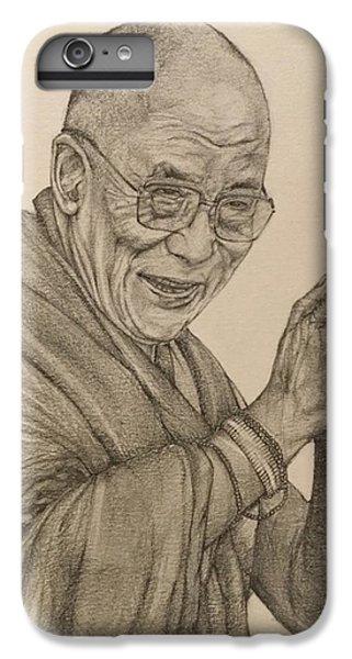 Dalai Lama Tenzin Gyatso IPhone 6s Plus Case by Kent Chua