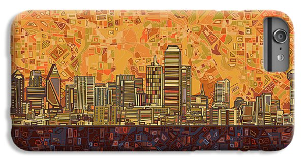 Dallas Skyline iPhone 6s Plus Case - Dallas Skyline Abstract by Bekim Art