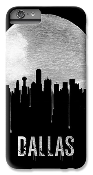 Dallas Skyline iPhone 6s Plus Case - Dallas Skyline Black by Naxart Studio