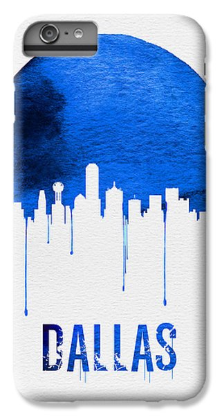 Dallas Skyline iPhone 6s Plus Case - Dallas Skyline Blue by Naxart Studio