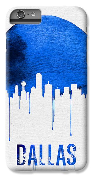 Dallas Skyline Blue IPhone 6s Plus Case by Naxart Studio