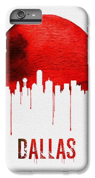 Dallas Skyline iPhone 6s Plus Case - Dallas Skyline Red by Naxart Studio