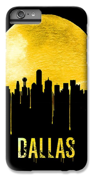 Dallas Skyline iPhone 6s Plus Case - Dallas Skyline Yellow by Naxart Studio
