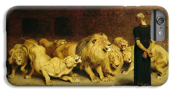 Animals iPhone 6s Plus Case - Daniel In The Lions Den by Briton Riviere