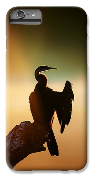 Anhinga iPhone 6s Plus Case - Darter Bird With Misty Sunrise by Johan Swanepoel