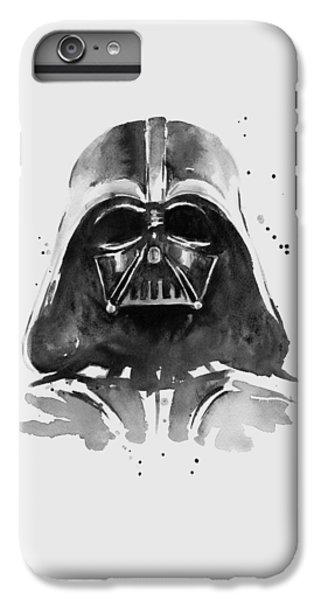 Portraits iPhone 6s Plus Case - Darth Vader Watercolor by Olga Shvartsur