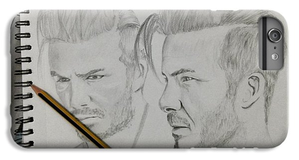 David Beckham iPhone 6s Plus Case - David Beckham Drawing  by Shahbas Ahmed