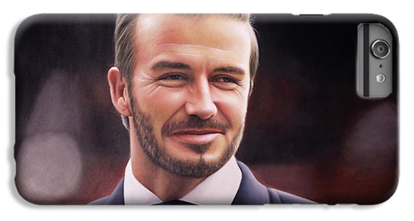 David Beckham iPhone 6s Plus Case - David Beckham Oil Painting by One Art