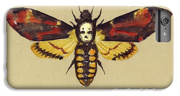 Hawk iPhone 6s Plus Case - Death Head Hawk Moth by Juan Bosco