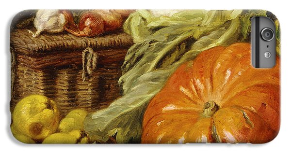 Detail Of A Still Life With A Basket, Pears, Onions, Cauliflowers, Cabbages, Garlic And A Pumpkin IPhone 6s Plus Case by Eugene Claude