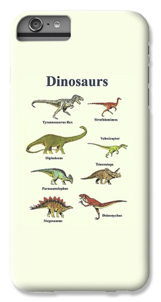Dinosaurs Montage - Portrait IPhone 6s Plus Case