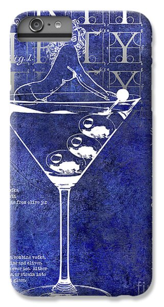 Dirty Dirty Martini Patent Blue IPhone 6s Plus Case by Jon Neidert