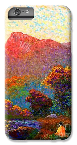 Impressionism iPhone 6s Plus Case -  Buddha Meditation, Divine Light by Jane Small