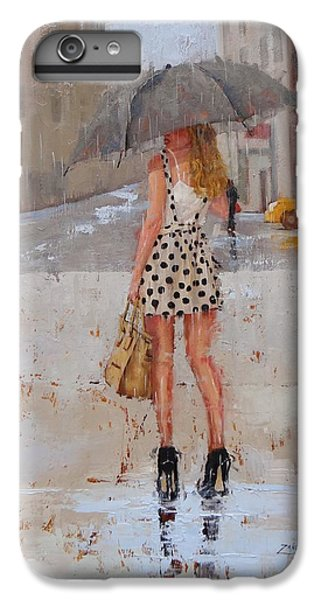 Umbrella iPhone 6s Plus Case - Dottie by Laura Lee Zanghetti