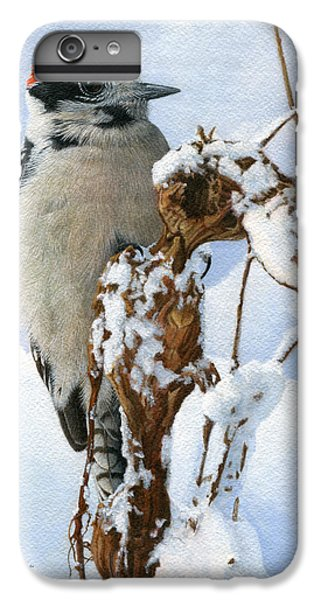 Downy Woodpecker  IPhone 6s Plus Case by Ken Everett