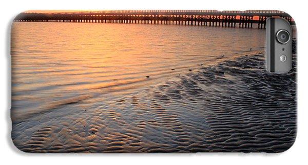 Ocean Sunset iPhone 6s Plus Case - Duxbury Beach Powder Point Bridge Sunset by John Burk