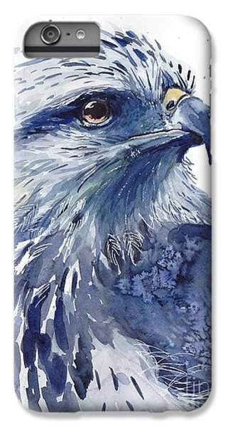 Pigeon iPhone 6s Plus Case - Eagle Watercolor by Suzann's Art