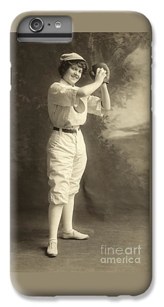 Early Portrait Of A Woman Baseball Player IPhone 6s Plus Case