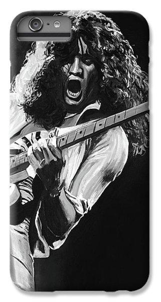 Van Halen iPhone 6s Plus Case - Eddie Van Halen - Black And White by Tom Carlton