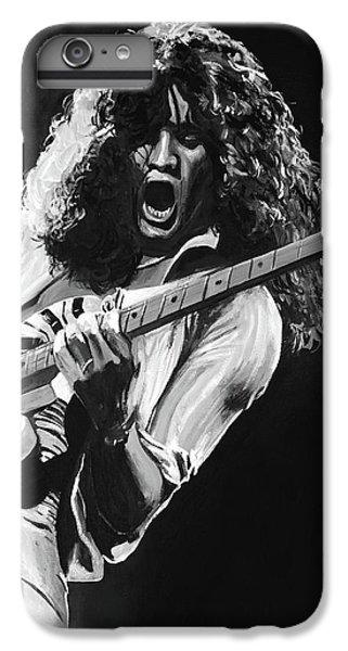 Eddie Van Halen - Black And White IPhone 6s Plus Case by Tom Carlton
