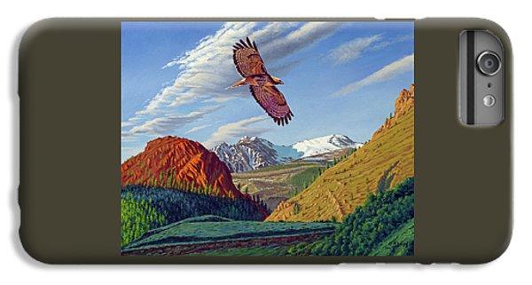 Hawk iPhone 6s Plus Case - Electric Peak With Hawk by Paul Krapf