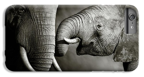 White iPhone 6s Plus Case - Elephant Affection by Johan Swanepoel