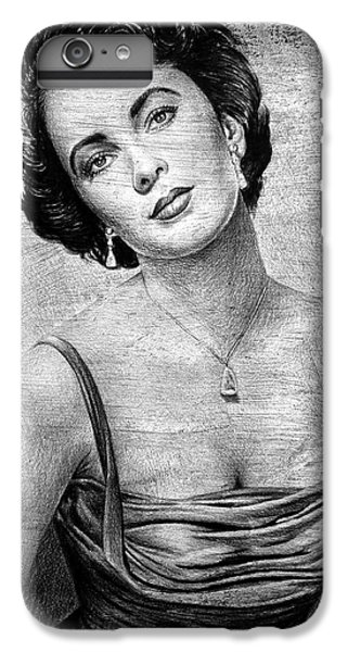 Liz Taylor iPhone 6s Plus Case - Elizabeth Taylor Bw Ver 2 by Andrew Read