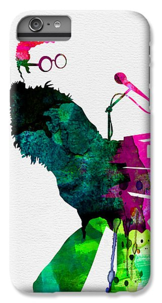 Musicians iPhone 6s Plus Case - Elton Watercolor by Naxart Studio