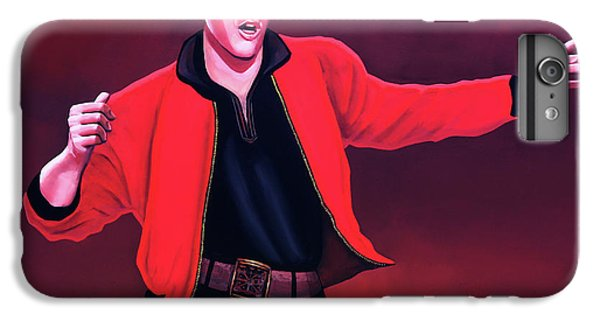Rock And Roll iPhone 6s Plus Case - Elvis Presley 4 Painting by Paul Meijering