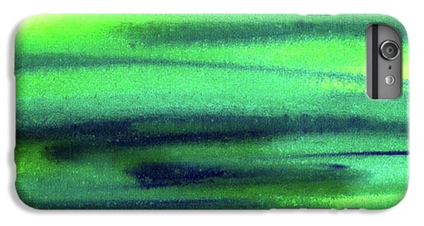 iPhone 6s Plus Case - Emerald Flow Abstract Painting by Irina Sztukowski