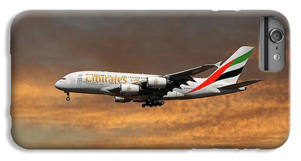 Jet iPhone 6s Plus Case - Emirates Airbus A380-861 3 by Smart Aviation