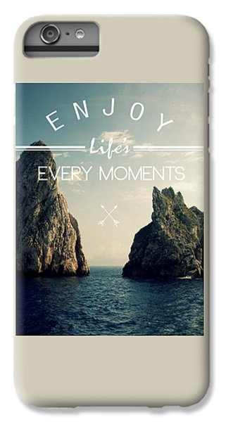Venice Beach iPhone 6s Plus Case - Enjoy Life Every Momens by Mark Ashkenazi