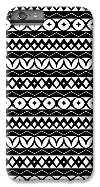 Fair Isle Black And White IPhone 6s Plus Case by Rachel Follett