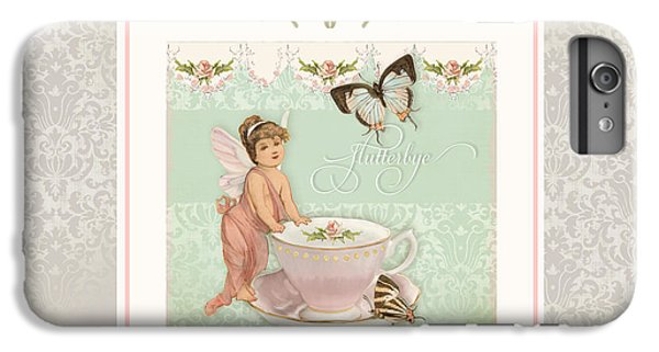 Bunting iPhone 6s Plus Case - Fairy Teacups - Flutterbye Butterflies And English Rose Damask by Audrey Jeanne Roberts