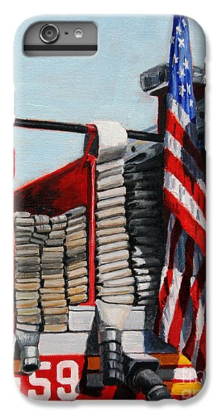 Harlem iPhone 6s Plus Case - Fdny Engine 59 American Flag by Paul Walsh