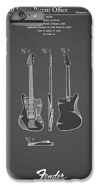 Guitar iPhone 6s Plus Case - Fender Electric Guitar 1959 by Mark Rogan