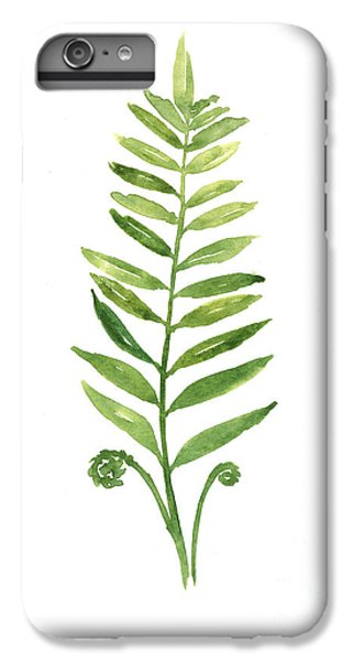 Fern Leaf Watercolor Painting IPhone 6s Plus Case