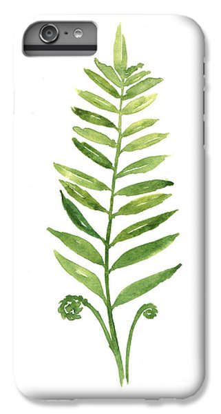 Garden iPhone 6s Plus Case - Fern Leaf Watercolor Painting by Joanna Szmerdt