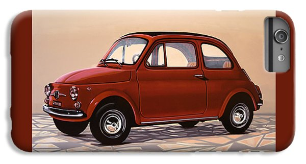 Beetle iPhone 6s Plus Case - Fiat 500 1957 Painting by Paul Meijering