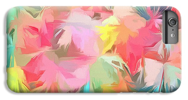 Coldplay iPhone 6s Plus Case - Fireworks Floral Abstract Square by Edward Fielding