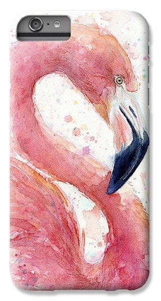 Flamingo iPhone 6s Plus Case - Flamingo - Facing Right by Olga Shvartsur