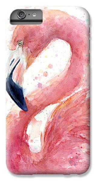Flamingo Watercolor Painting IPhone 6s Plus Case