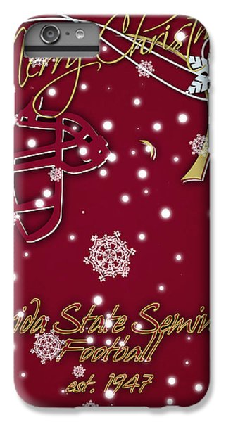 Florida State Seminoles Christmas Card IPhone 6s Plus Case by Joe Hamilton