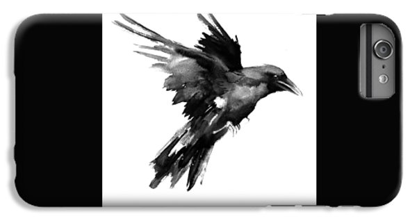 Raven iPhone 6s Plus Case - Flying Raven by Suren Nersisyan
