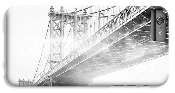 White iPhone 6s Plus Case - Fog Under The Manhattan Bw by Az Jackson