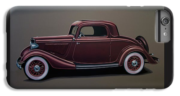 Falcon iPhone 6s Plus Case - Ford 3 Window Coupe 1933 Painting by Paul Meijering