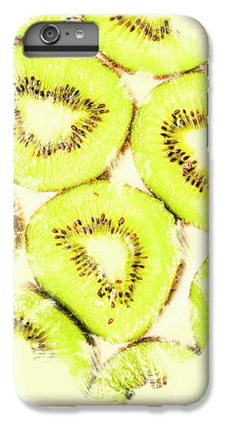 Kiwi iPhone 6s Plus Case - Full Frame Shot Of Fresh Kiwi Slices With Seeds by Jorgo Photography - Wall Art Gallery