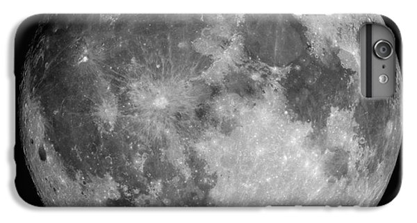 White iPhone 6s Plus Case - Full Moon by Roth Ritter