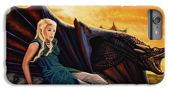Dragon iPhone 6s Plus Case - Game Of Thrones Painting by Paul Meijering