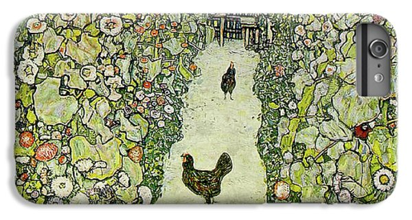 Rooster iPhone 6s Plus Case - Garden With Chickens by Gustav Klimt